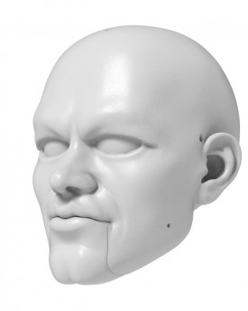 3D Model of Matt Damon head for 3D print 125 mm