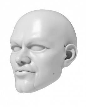 Matt Damon - head model for 3D printing