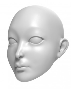 3D Model of Princess head for 3D print 127 mm