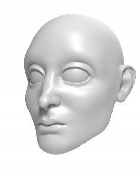 3D Model of Prince head for 3D print 157 mm