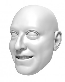 3D Model of a businessman's head for 3D print