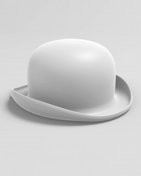 Bowler hat for 3D print