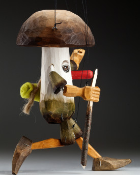 Mr. Mush - a string puppet of a forest mushroom elf