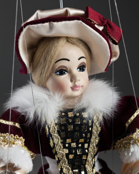 Countess Annie - a puppet of a tender blonde with a fashionable hat