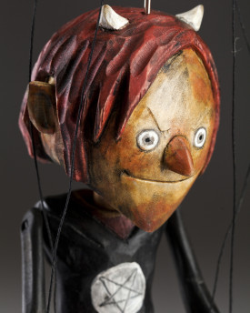 Superstar Devil - a hand carved string puppet with an original look