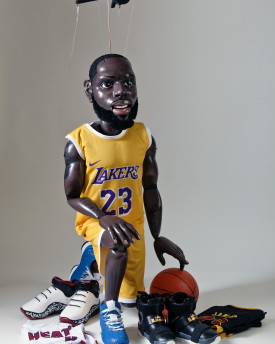 LeBron James  baskeball player professional marionette - 40 inches (100cm) tall