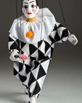 Lovely Pierrot string puppet
