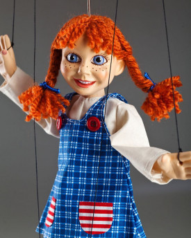 Marionette inspired by Pippi Longstocking
