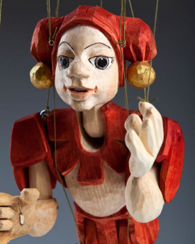 Jester hand-carved marionette (L Size)