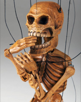 Smiling Skeleton Marionette