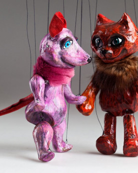 Cat and Mouse – awesome ceramic puppets