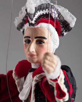 Wolfgang Amadeus Mozart - a string puppet in a beautifully crafted costume