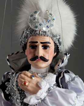 Black prince - a string puppet in a beautiful costume