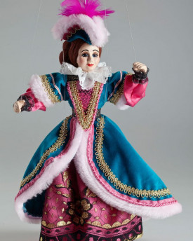 Court lady Penelope Adeline - a string puppet in a beautiful detailed costume