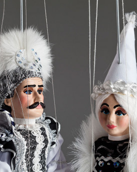 Black and White Couple Marionettes