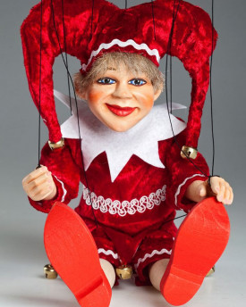 Red Jester Marionette