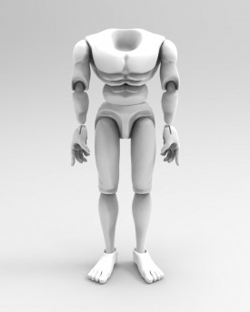 3D Model of a wrestler's body for 3D print