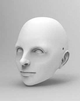 3D Model Head of Liza Minnelli for 3D print 120 mm