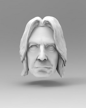 Snape 3D model of a marionette head