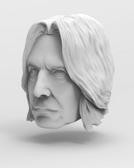 3D Model of professor Snape's head for 3D print
