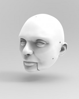 3D Model of a calm man's head for 3D print