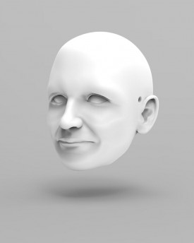 3D Model of an elderly lady's head for 3D print