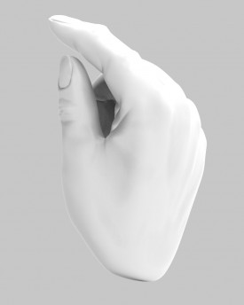 3D Model of hands in a gesture for 3D print
