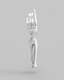 3D Model of skeleton's hands for 3D print