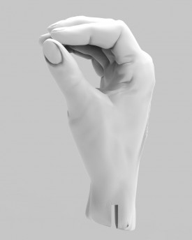 3D Model of pinching hands for 3D print