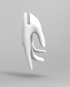 3D Model of slim woman hands for 3D print