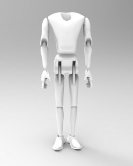 3D Model of a slim man for 3D print