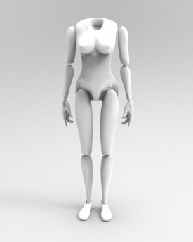3D Model of woman's body for 3D print