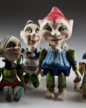 Group of Lucky Gnomes Figurines