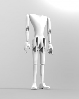 3D Model of tall man's body for 3D print