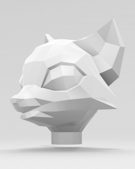 3D Model of a fox head for 3D print