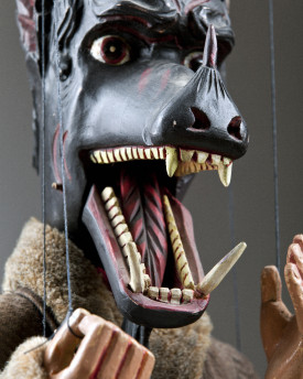Devil with a dog head - antique marionette