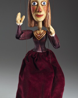 Princess – hand carved wooden string puppet
