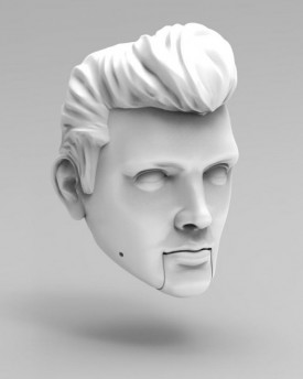 Elvis Presley head model for 3D printing