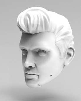 3D Model of Elvis Presley's head for 3D printing 160 mm