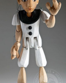 Pierrot hand carved marionette (S size)