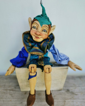 Jester - precisely hand carved marionette