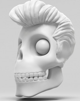 3D Model of Elvis Presley skull for 3D print