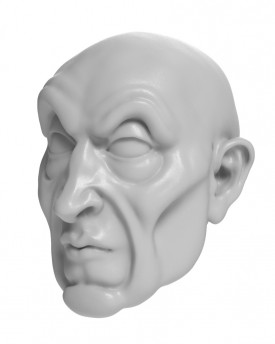 3D Model of a wizard's head for 3D print