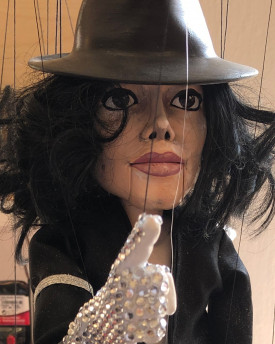 3D Model of Michael Jackson head for 3D printing 130 mm